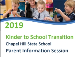 Prep 2019 Information Session - Thursday 02 August , 2018
